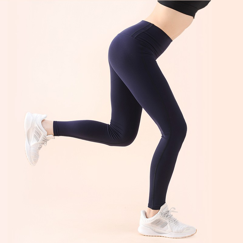 【VITASTYLE】韓國品牌ARZE棉感瑜珈褲_藏青色
