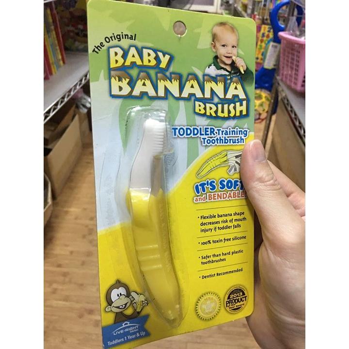 美國【Baby Banana Brush】不剝皮香蕉牙刷固齒器