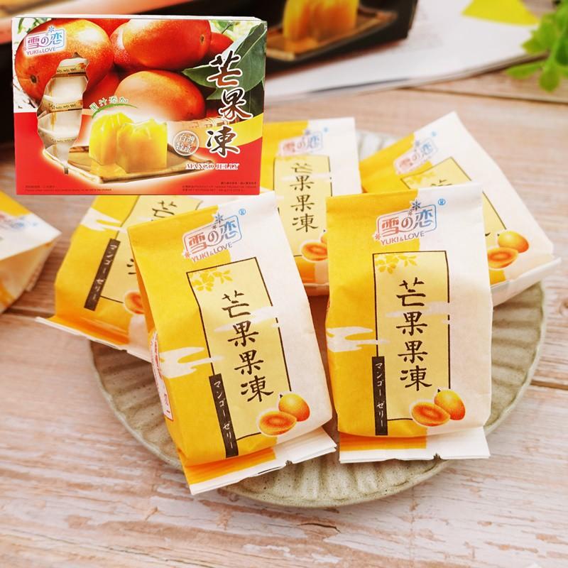【雪之戀】芒果凍 500g(10入) 【4712905017873】(台灣果凍)