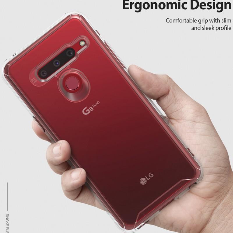 LG手機殼 保護套 防摔殼 0414# 韓國Ringke LG g8 ThinQ手機殼G8超薄防摔保護套全包軟硅膠透明