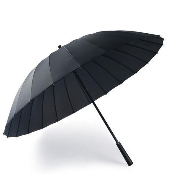 【咖色啡岸生活鋪】北葵傘業24骨長柄雨傘男女生雙人防風雷雨加固黑色超大號晴雨MJBL優惠鋪子