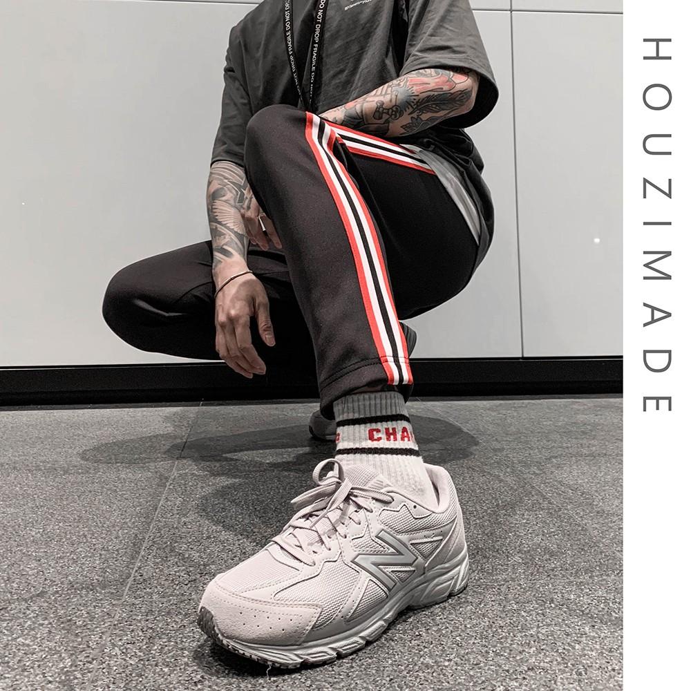 [HOUZIMADE] 配色織帶運動長褲 [M0449]