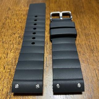 【錶帶家】卡地亞 山度士100 23mm Cartier Santos 100 代用柔軟防水橡膠帶不沾染毛屑 高雄市