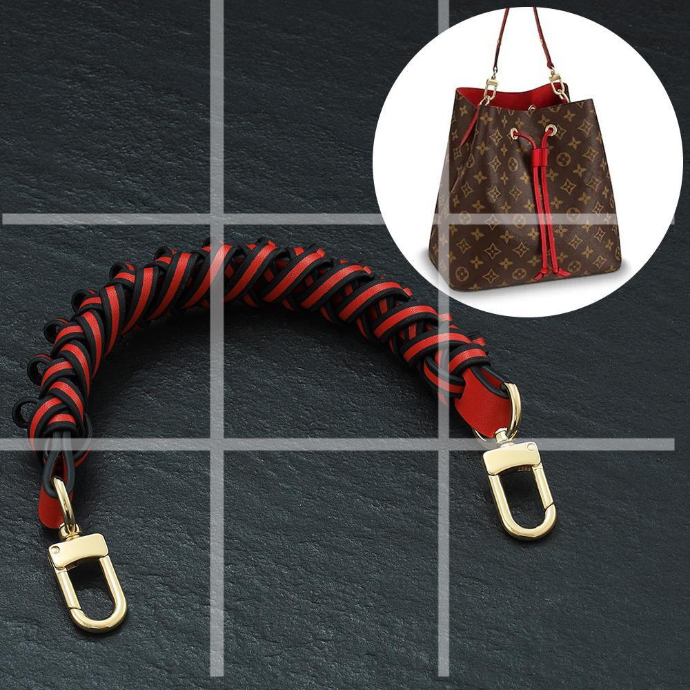包包肩帶 適用lv老花水桶包編織手腕編織繩NEONOE手提手拎包包配件替換單買