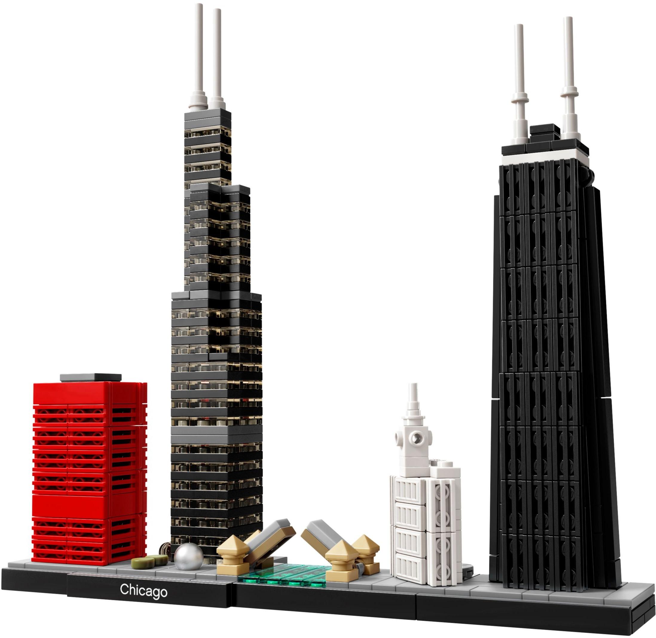 新產品LEGO樂高21033 世界建築街景 禮讚芝加哥 拼插積木玩具擺件