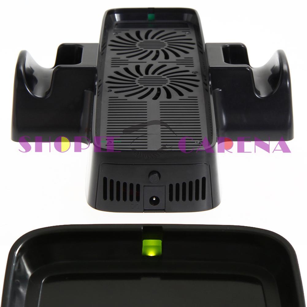 (Shopeecarenas) 冷卻風扇, 帶用於 XBOX 360 遊戲控制器的雙底座