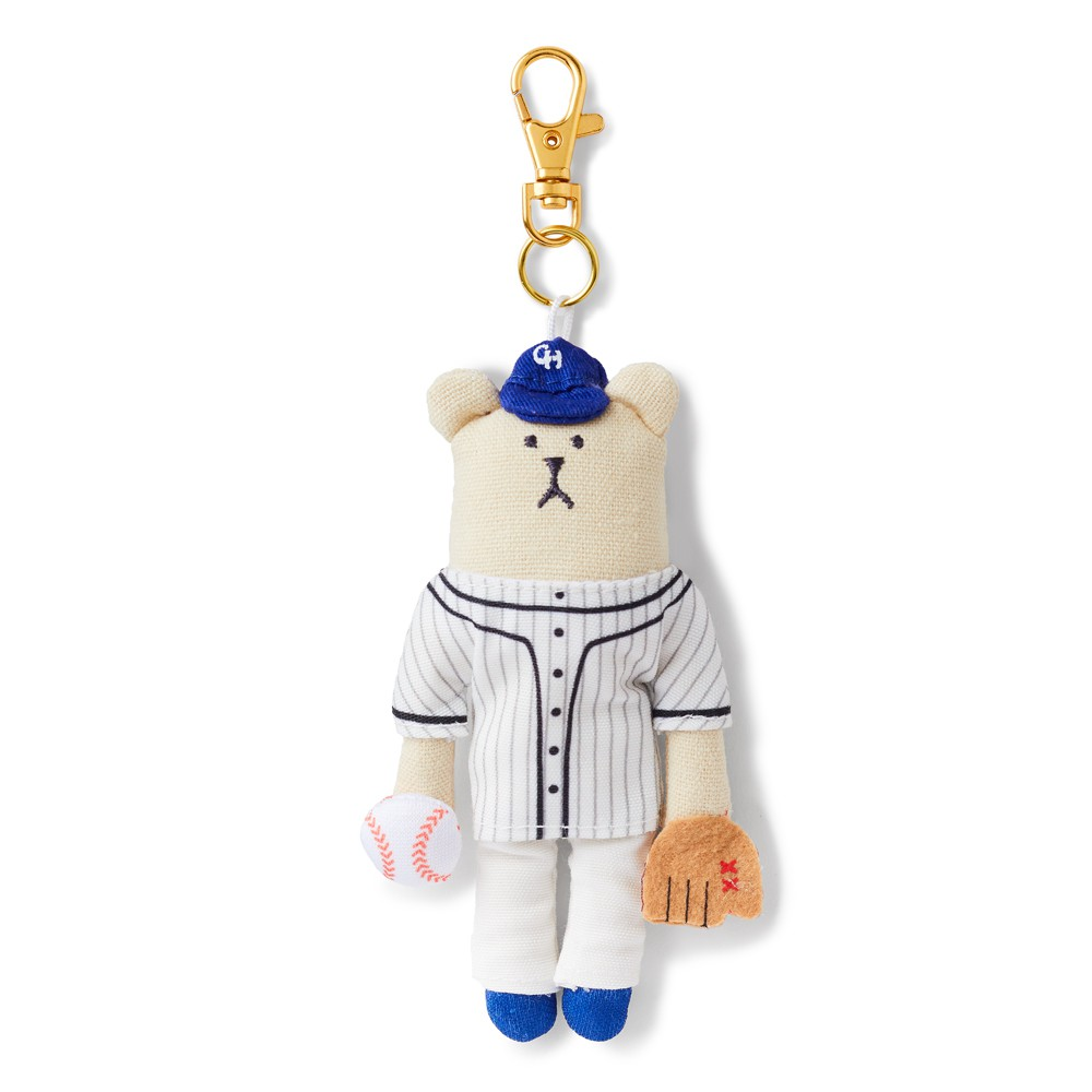 CRAFTHOLIC 宇宙人 棒球選手熊吊飾 (限定款)