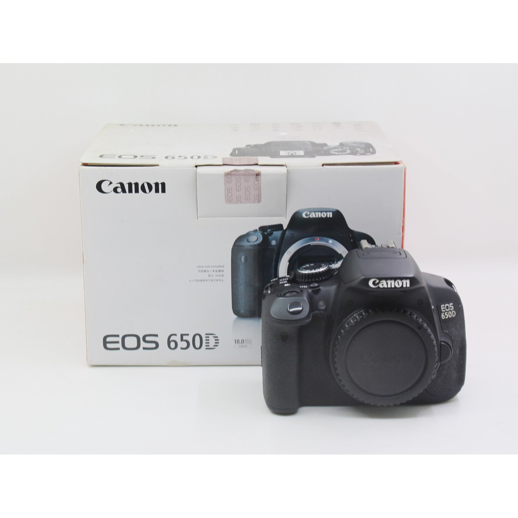 【青蘋果】Canon EOS 650D單機身 快門65073 二手單眼相機#NF221