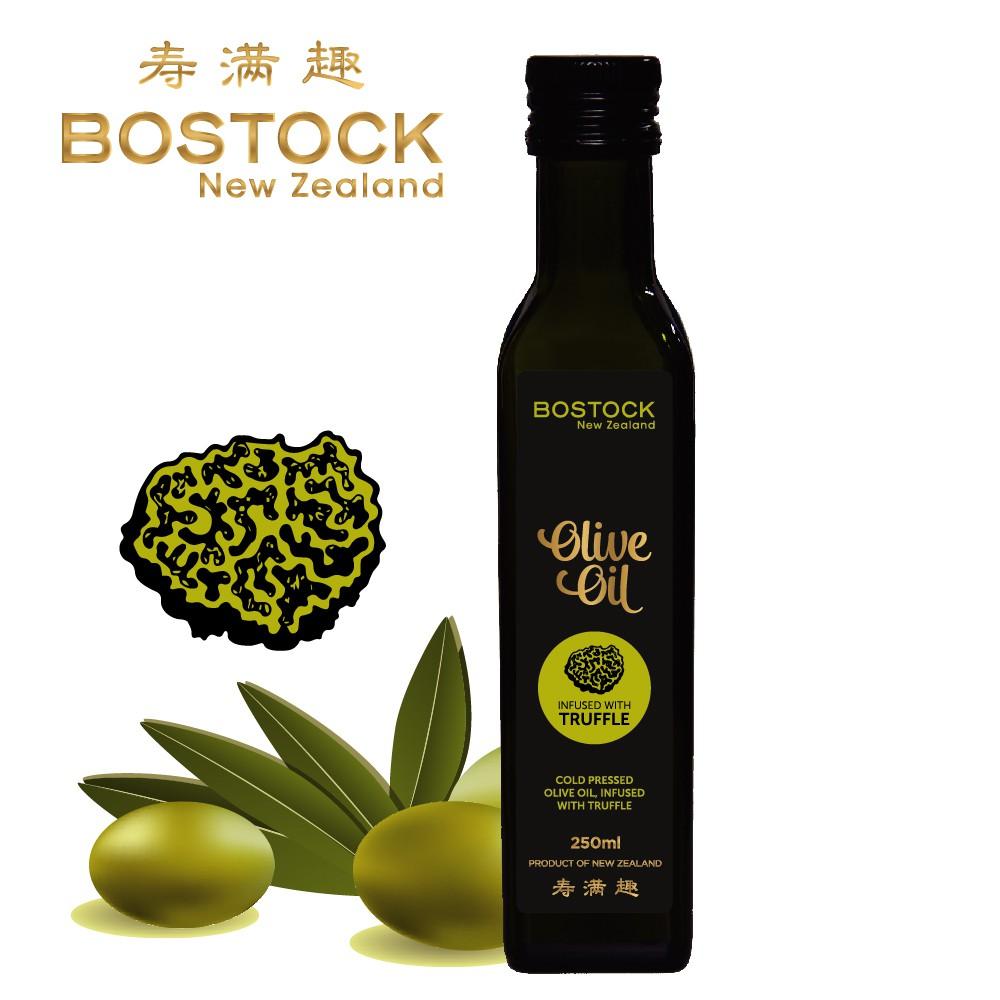 壽滿趣Bostock 頂級冷壓初榨松露風味橄欖油250ml x1瓶