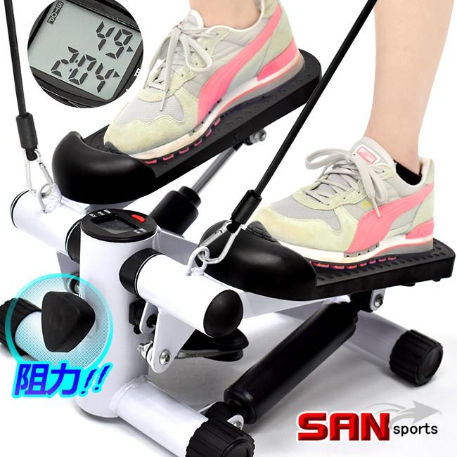 大角度有氧踏步機(可調阻力+送拉繩)登山美腿機C200-TBJ100上下踏步機滑步機划步機.階梯運動健身器材