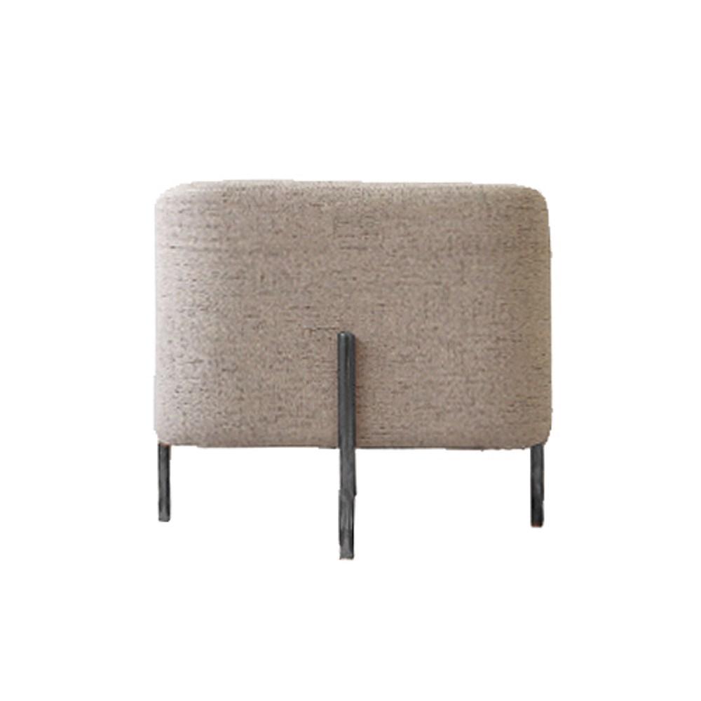 時尚棉麻方型椅凳-咖啡色