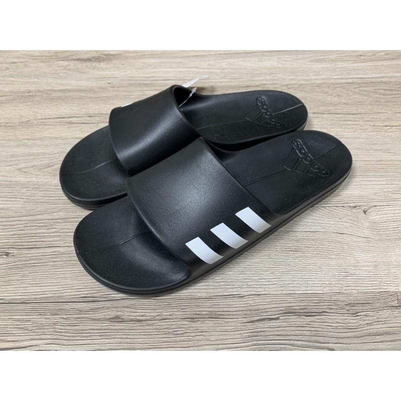 ADIDAS AQUALETTE CF 黑白 三本線 防水 三條線 運動拖鞋 CG3540 男女