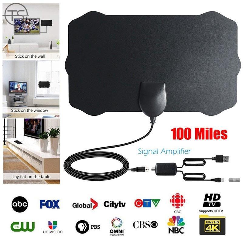 SONG 100英里範圍數字電視HDTV天線天線信號4K高清高清