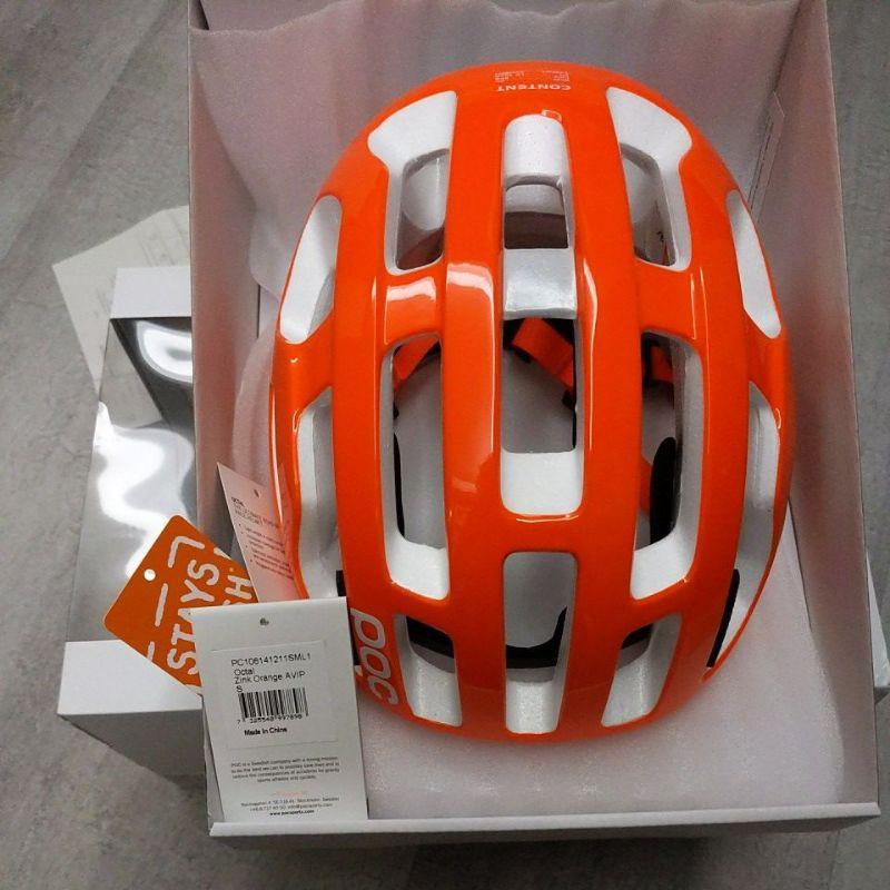 POC octal road helmet 自行車安全帽 橘色 S號
