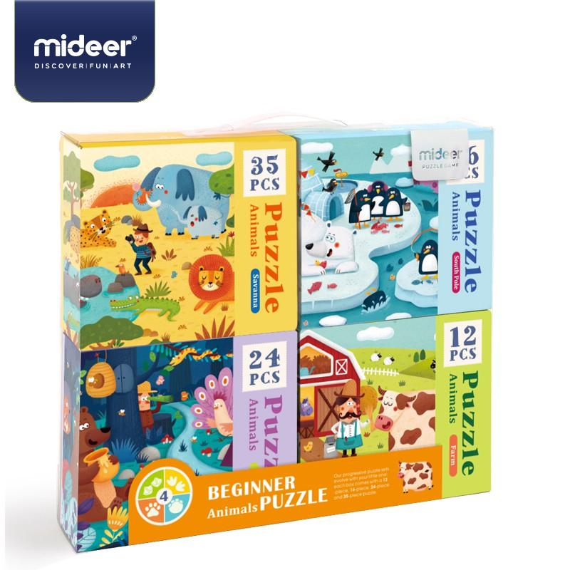 《MiDeer》四合一拼圖-動物