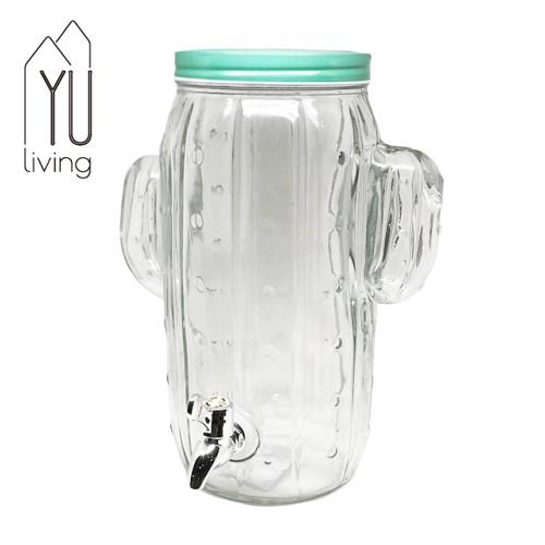 【YU Living】梅森瓶 仙人掌造型玻璃果汁壺 水壺 水瓶 5000ml (含蓋子) [限時特賣]