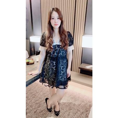 (台灣現貨)韓國 東大門 正韓 瑪莉特 Melita - 氣質名媛甜美蕾絲小香風洋裝