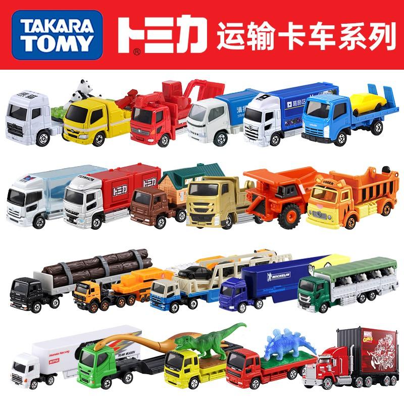 ▼✲☽日本TOMY多美卡合金車玩具仿真模型運輸卡車拖車搬運小汽車tomica
