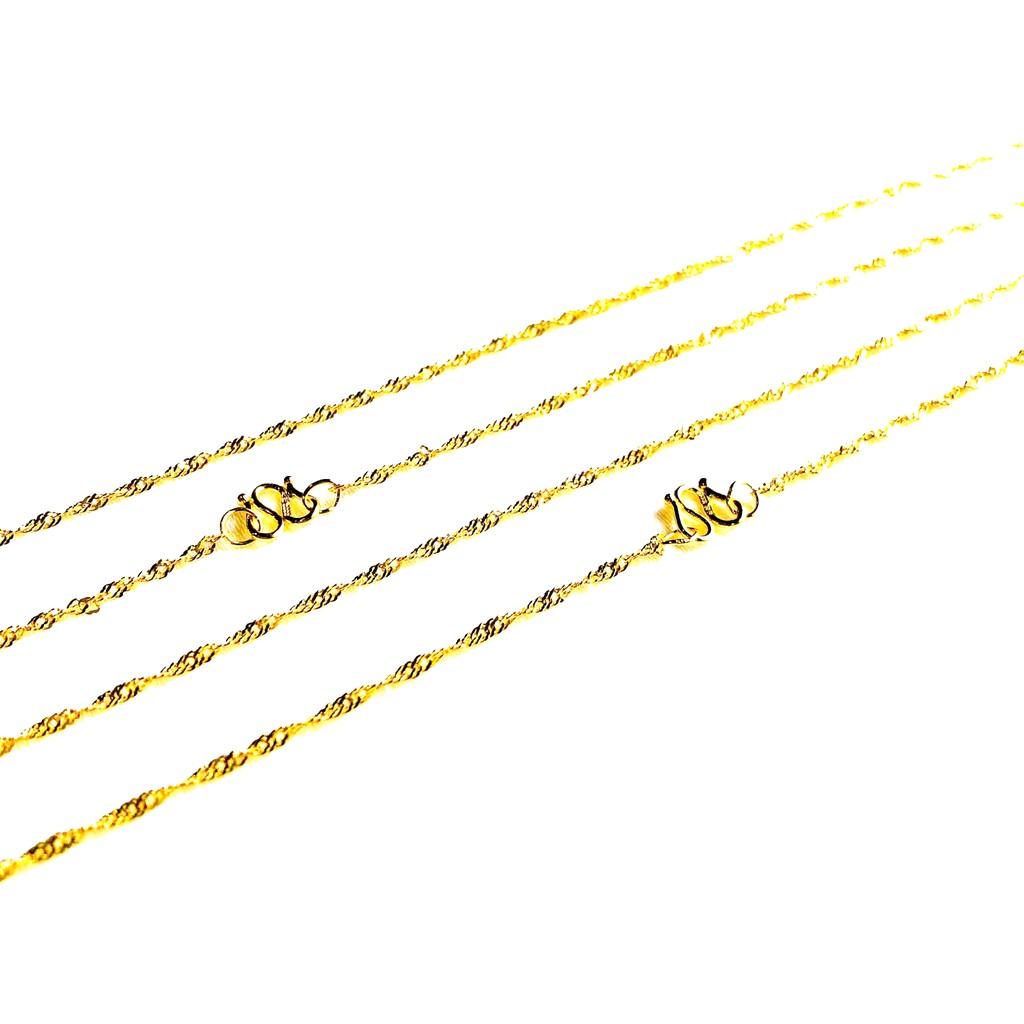 9999純金 黃金項鍊 絞絲鍊 約0.73錢 黃金絞絲項鍊 生日禮物 情人禮物 簡單大方 保值 金喜飛來
