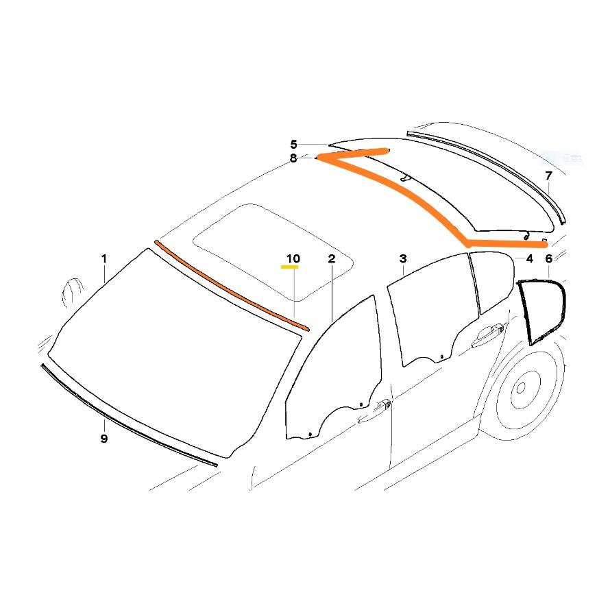 德國原廠BMW E90 E91前擋風玻璃上膠條 後擋風玻璃上膠條 上飾條 後擋下 318 320 328 330 335