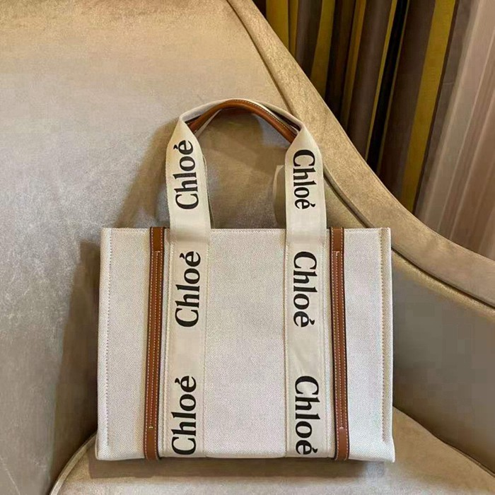 CHLOE WOODY TOTE BAG手提袋 帆布包 手提包 單肩包 購物包 托特包 上班包包 女包 大小可選