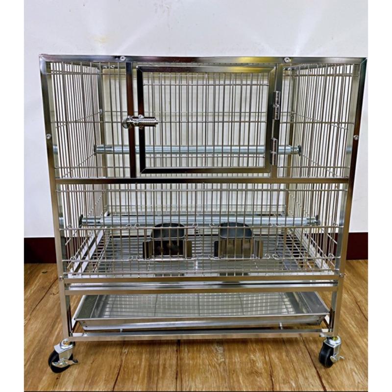 (預購)MIT改版🇹🇼兩呎白鐵銀尊鳥籠#304不鏽鋼