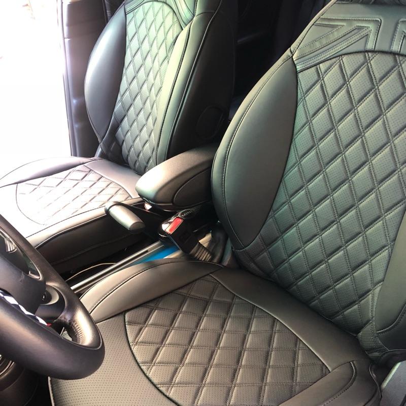 MINI COOPER R60專用菱格紋英國旗椅套組