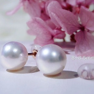 【 D.C. Jewellry 】Akoya 珍珠耳環 8~8.5mm 輕奢訂製款