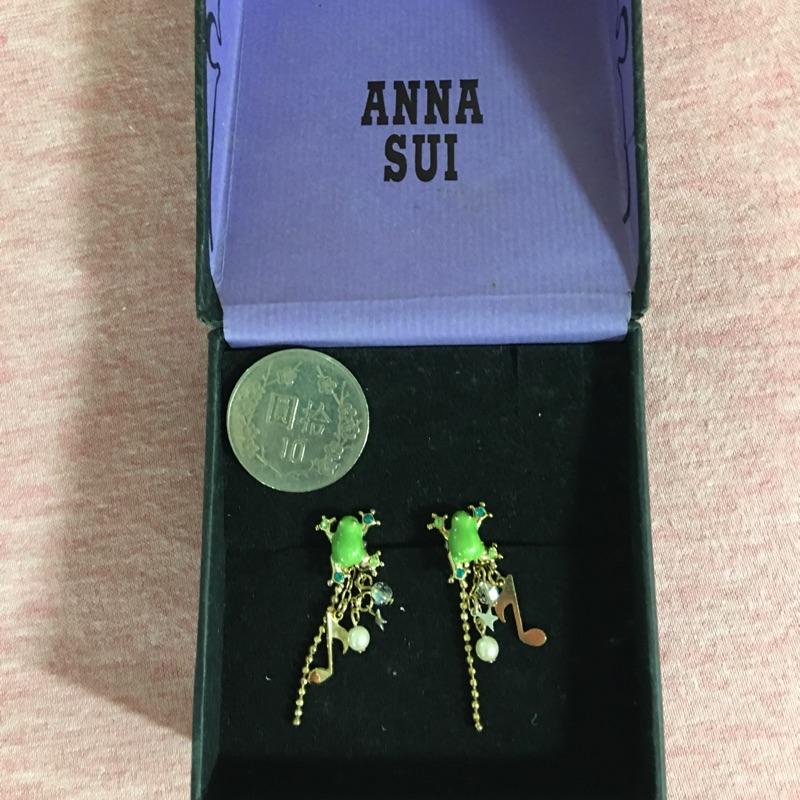 Anna Sui青蛙音符造型耳環(全新)