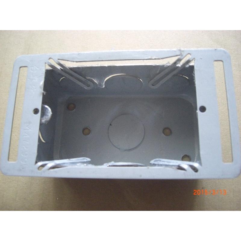 蓋片固定架 接線盒輔助固定片 輕隔間鐵盒維修汰換用 開關插座固定架 (四腳獸)