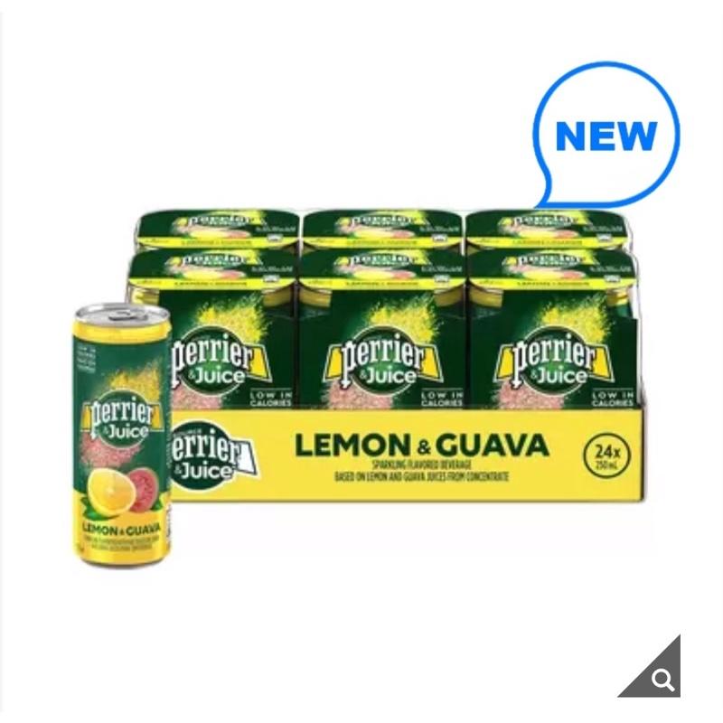 代購好市多Perrier 沛綠雅 氣泡綜合果汁 檸檬芭樂口味 250毫升 X 24入
