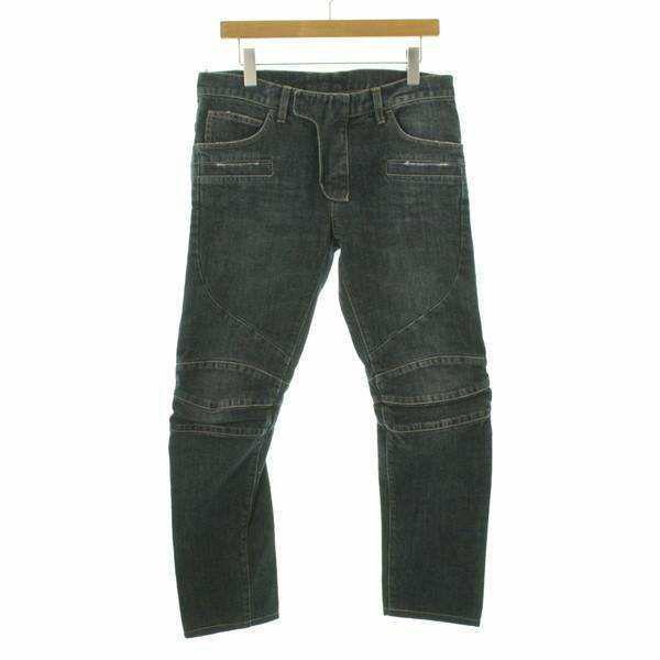 Balmain homme 藍色3D機車褲