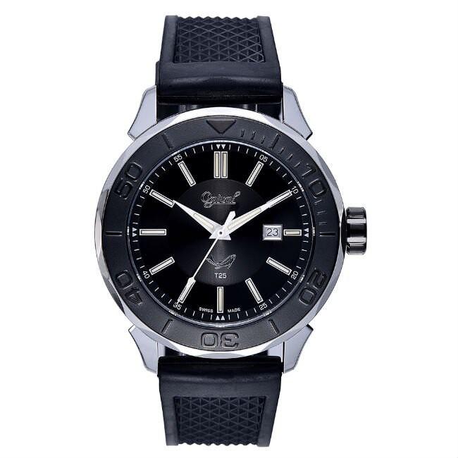 愛其華 Ogival (8005TGSB) 夜鷹飛梭系列氚氣燈管時尚機械腕錶 /45mm