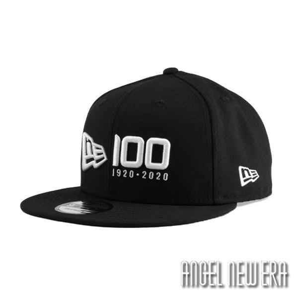 【NEW ERA】100週年 紀念帽 經典黑 排字款 9FIFTY 可調式 棒球帽【ANGEL NEW ERA】