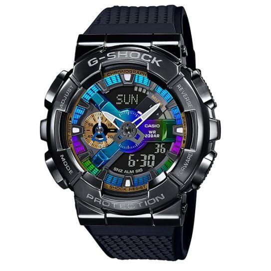 【KAPZZ】CASIO G SHOCK 重工業風金屬雙顯手錶 GM-110B-1A