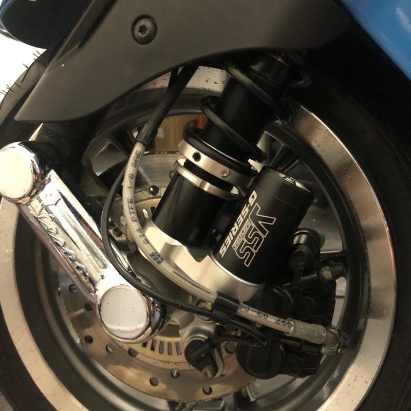 台南VOS偉士車坊-Vespa 泰國YSS避震器 新版黑色氮氣瓶 台灣限定版 GTS GTV 春天衝刺 LX LT S