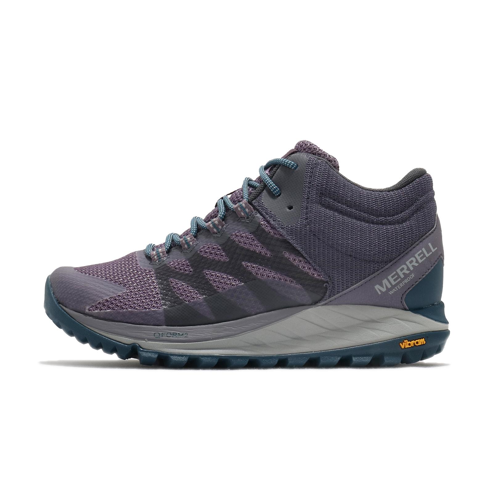 Merrell 戶外鞋 Antora 2 Mid Waterproof 紫 藍 女鞋 野跑 ML035648 【ACS】