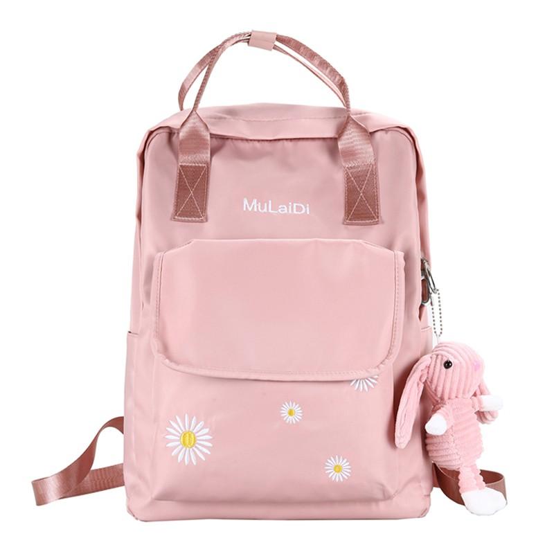 尼龍後背包 Z 雙肩包女新品大容量初中生大學生書包電腦包小清新背包潮