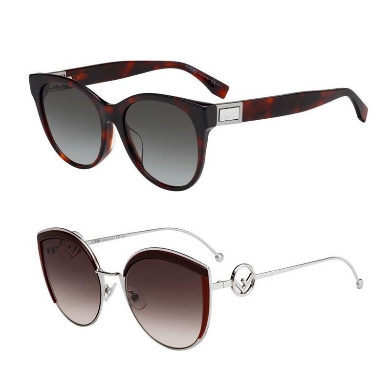 FENDI 金屬/黑色/玳瑁色鏡框太陽眼鏡 多色任選 廠商直送 現貨