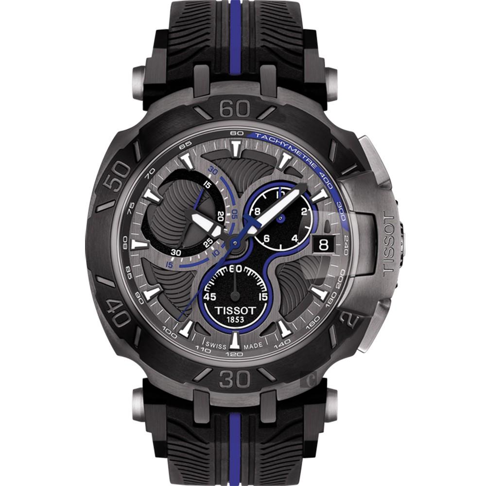 TISSOT天梭 T-RACE MOTOGP 2017限量版賽車錶-黑x藍45mm T0924173706100廠商直送