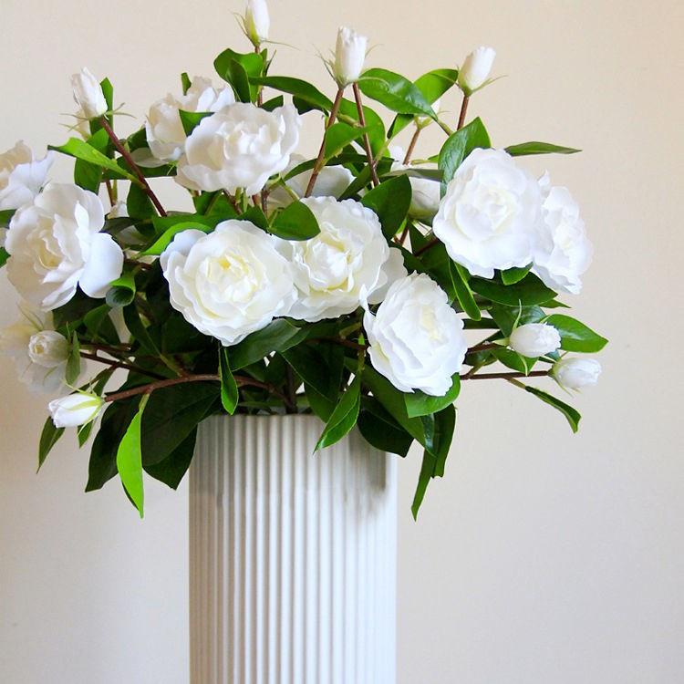 仿真花山茶花梔子花假花家居餐桌客廳裝飾插花婚慶攝影拍照花