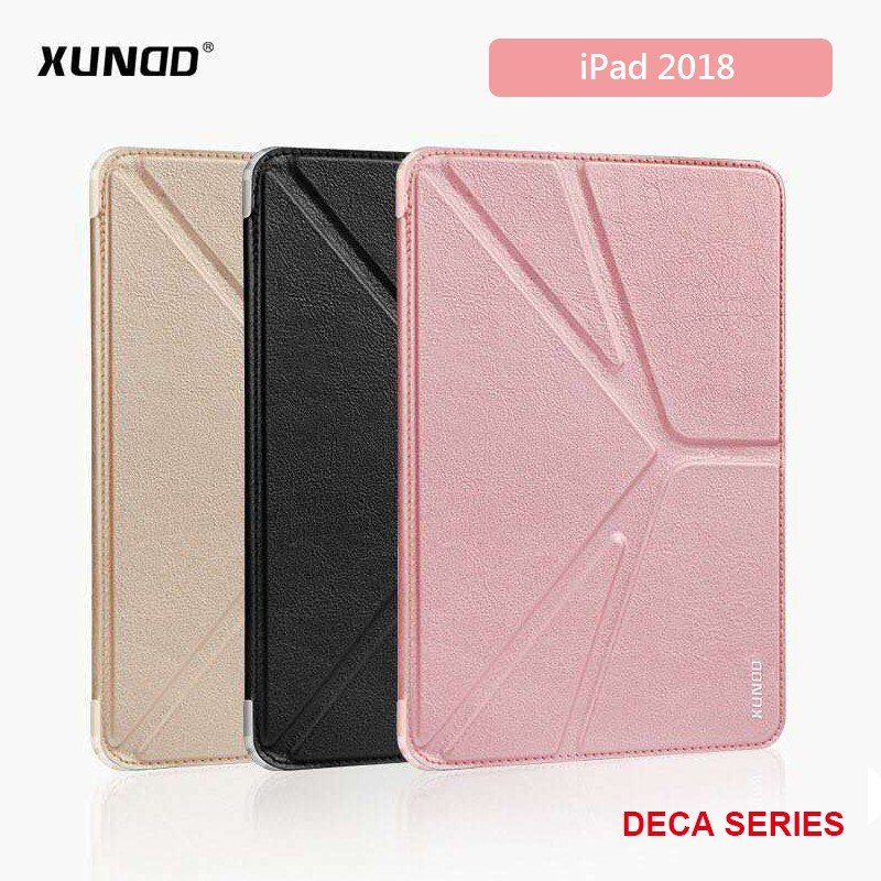 蘋果 Apple iPad 6 代 (2018) A1893 A1954 XUNDD迪卡系列側掀皮套 三角折 平板軟套