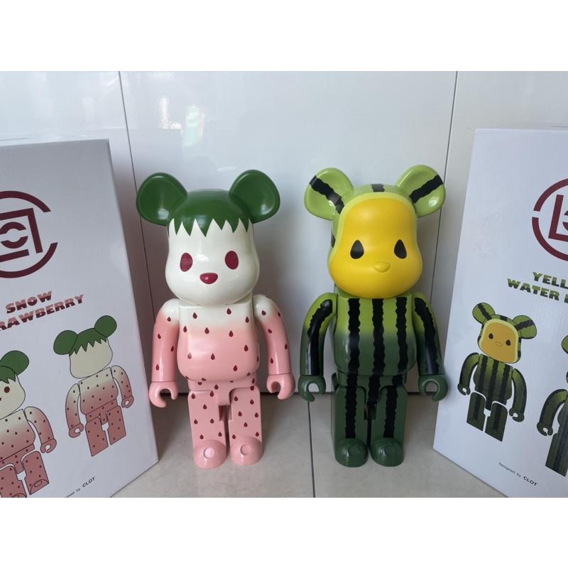 潮物 BE@RBRICK CLOT 小玉西瓜&小草莓 陳冠希 水果熊  1000% 一組不拆 免運 現貨