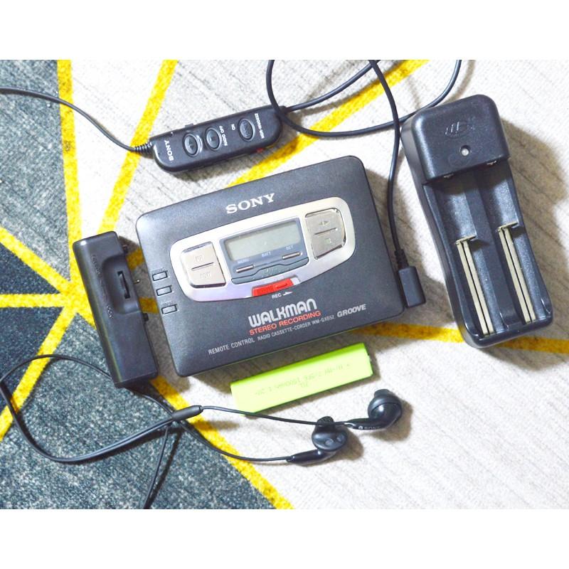 【懷舊CD機隨身聽】2手索尼日產SONY超薄磁帶機隨身聽WM-GX652懷舊完好帶線控可充電