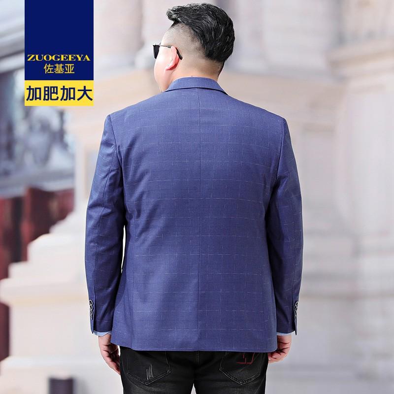 【現貨】加肥加大碼西裝外套休閑男寬松商務西服帥氣