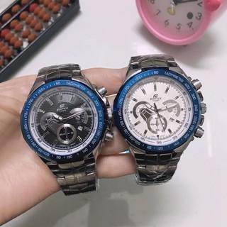 (鳥兒錶行)CASIO卡西歐手錶 時尚三眼六針計時爵士石英腕錶 男款鋼帶手錶 桃園市