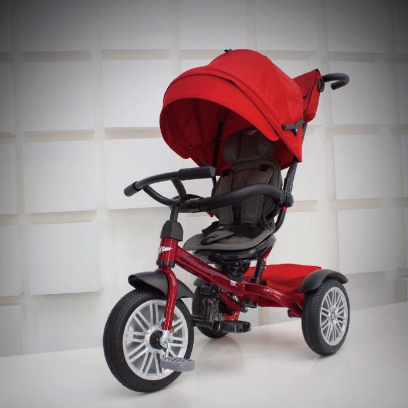 賓利 Bentley 原廠授權兒童三輪車-二手紅色
