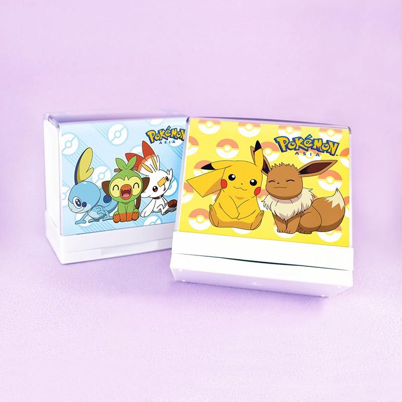 寶可夢 Pokemon P20(大) 姓名印章 翻轉印章 卡通 蓋衣服 布料 防水 皮卡丘 伊布 小智 火箭隊