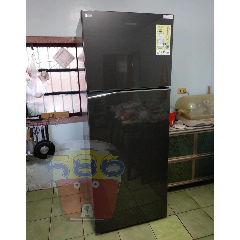 《台南586家電館》Panasonic國際牌485【NR-B480TV】鋼板雙門冰箱.玻璃層架