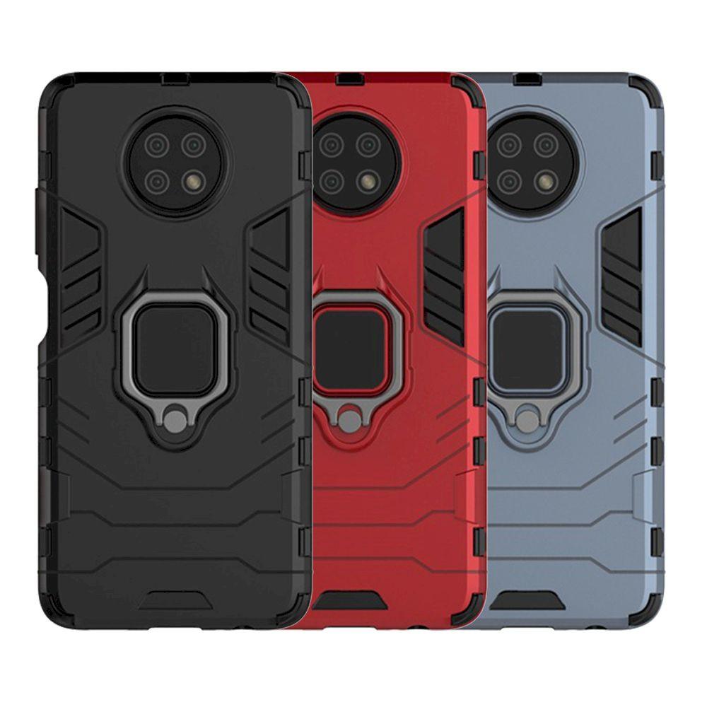 紅米 Note 9T 5G 鎧甲保護殼雙層抗震TPU+PC軟硬殼全包式指環支架手機殼背蓋